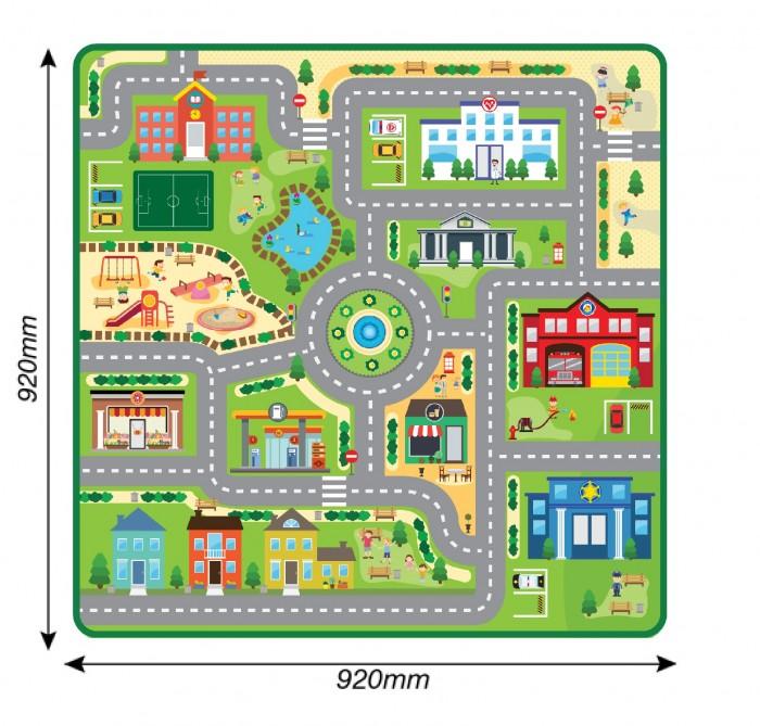 Купить Игровые коврики, Игровой коврик ЯиГрушка в рулоне Город 92x92 см