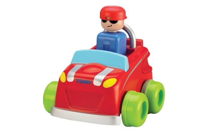 Машины Tomy Машинка Нажимай и гоняй машины tomy трактор john deere monster treads с большими резиновыми колесами