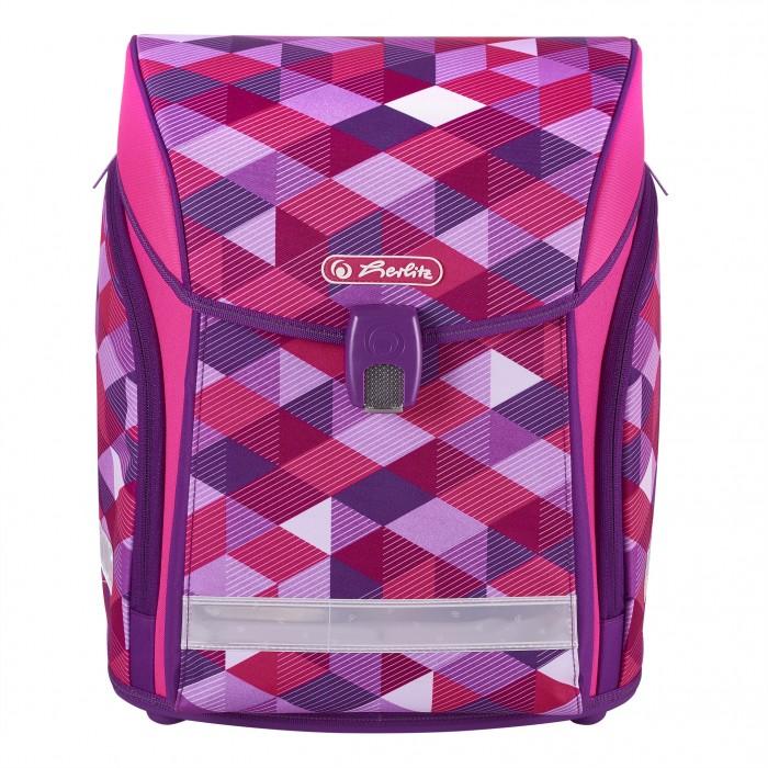 Купить Школьные рюкзаки, Herlitz Ранец Midi New Pink Cubes