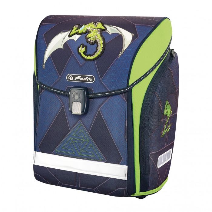 Купить Школьные рюкзаки, Herlitz Ранец Midi New Green Robo Dragon