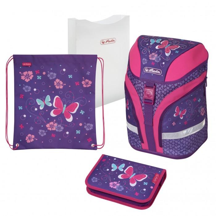 Купить Школьные рюкзаки, Herlitz Ранец Motion Plus Butterfly с наполнением