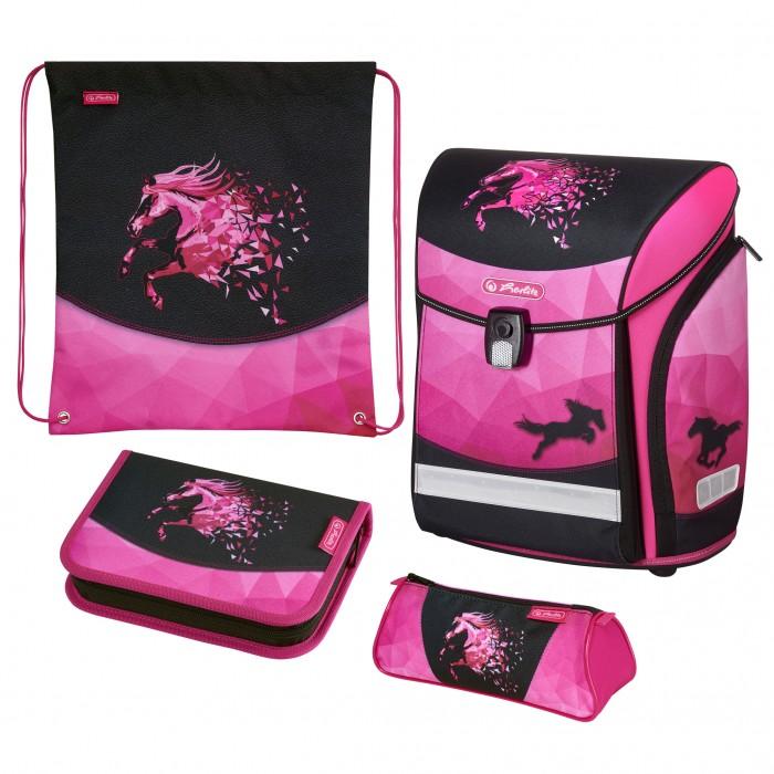 Купить Школьные рюкзаки, Herlitz Ранец Midi New Plus Horse с наполнением
