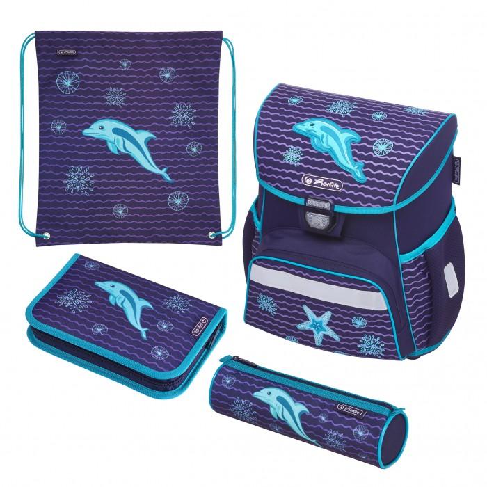 Купить Школьные рюкзаки, Herlitz Ранец Loop Plus Dolphin с наполнением