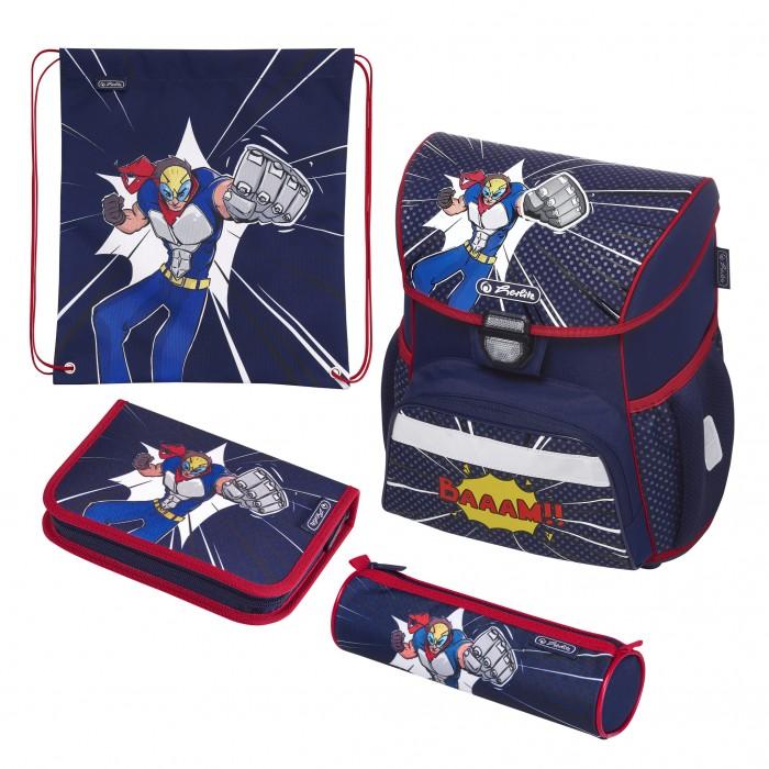 Купить Школьные рюкзаки, Herlitz Ранец Loop Plus Comic Hero с наполнением