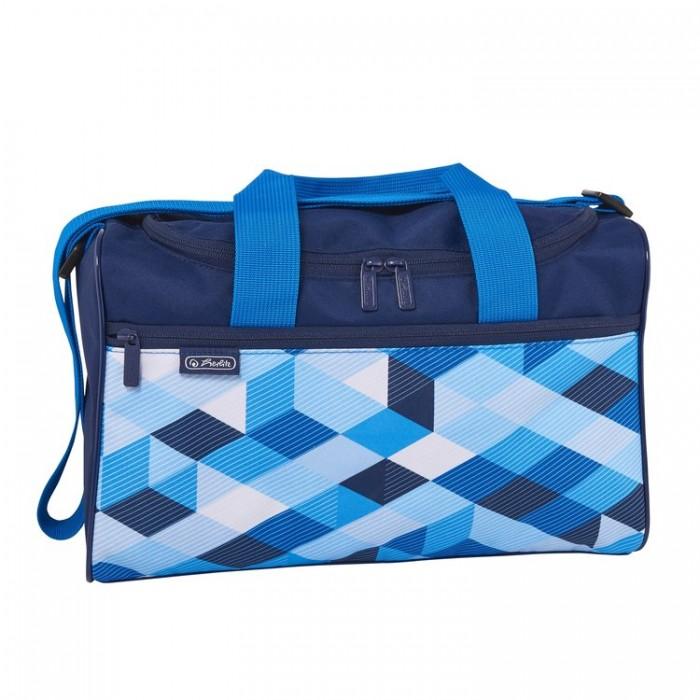 Картинка для Сумки для детей Herlitz Сумка спортивная XL Blue Cubes