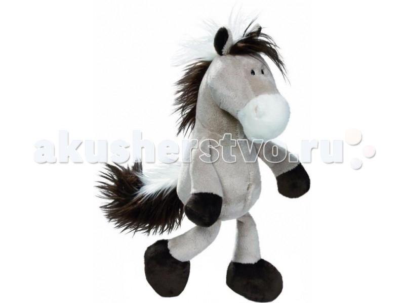 Мягкие игрушки Nici Лошадь серо-бежевая сидячая 25 см nici мягкая игрушка овечка френсис сидячая