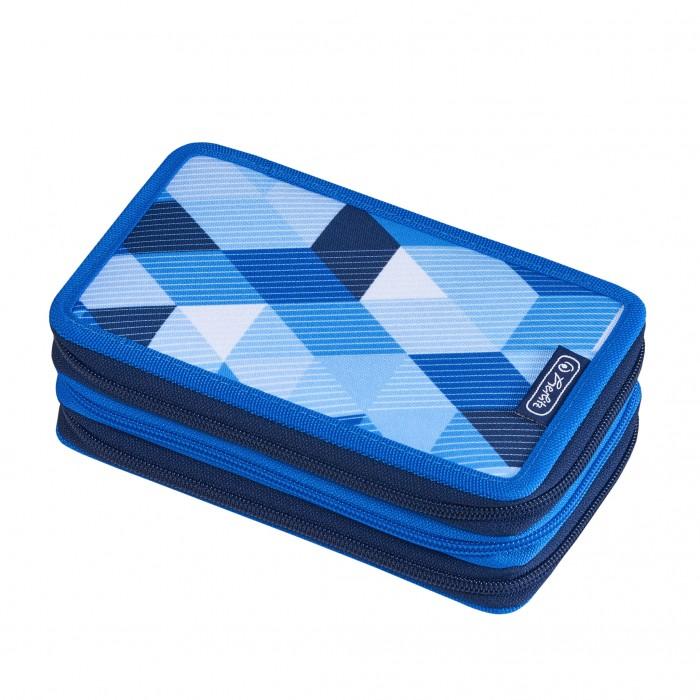 Herlitz Пенал Blue Cubes 3 молнии 31 предмет