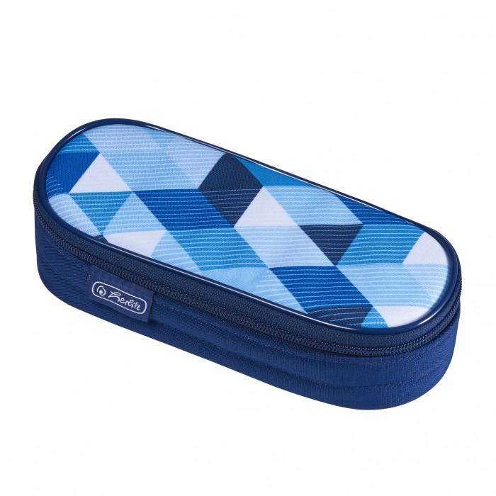 Пеналы Herlitz Пенал-косметичка Case Blue Cubes herlitz пенал косметичка polina case pink cubes