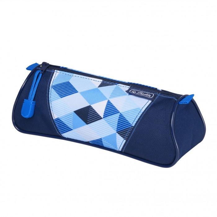 Пеналы Herlitz Пенал-косметичка Triangular Blue Cubes пеналы herlitz пенал косметичка triangular spring horses