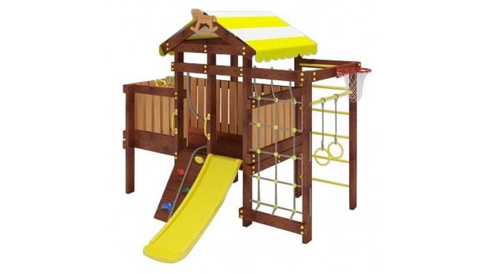 Савушка Детский игровой комплекс Baby Play 3Игровые комплексы<br>Савушка Детский игровой комплекс Baby Play 3 предназначен для активных и безопасных игр вашего малыша.  Рассчитанный на самых маленьких, детский городок включает оптимальный набор спортивных и игровых элементов, полезных не только для настроения, но и для здоровья.  Детский уличный комплекс создан с теплом и любовью по самым высочайшим стандартам качества и ГОСТа. Используются только натуральные материалы и 100% безопасные конструкции!  Материал: Конструкция разработана и произведена согласно ГОСТ 52169-2012 Качество древесины согласно ГОСТ 9885-95.2 Элементы подвеса и крепежа согласно ГОСТ Качество шлифовки Lux (машинная+ручная) Дерево обработано лакокрасочным покрытием с разрешающим сертификатом для покрытия детских игровых площадок Комплектация: Игровой домик с крышей (высота платформы 600 мм) Горка пластиковая 1.18 м Балкон с игровыми элементами Шведская стенка Сетка-лазалка Турник металлический Кольца гимнастические Бинокль Руль Скалодром с канатом 1 место — 1700 х 270 х 135 2 место — 1050 х 270 х 135 3 место — 870 х 160 х 180 4 место — 1650 х 160 х 180 5 место — 790 х 200 х 110 6 место — 1200 х 160 х 180 7 место — 1650 х 180 х 135 8 место — 960 х 76 х 25 9 место — 400 х 400 х 400 Габариты в собранном виде (Д х Ш х В): 2740 х 2160 х 2100 см