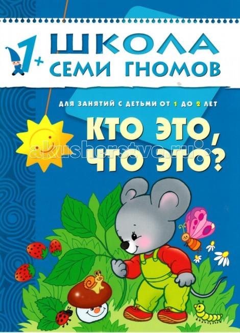 Раннее развитие Школа 7 гномов Второй год обучения. Кто это, что это? 1-2 года книга школа семи гномов второй год обучения рисуем пальчиками