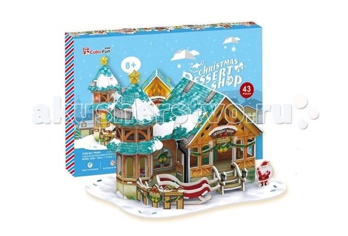 Конструкторы CubicFun 3D пазлы Кубик фан Рождественский домик 3 (с подсветкой) пазлы cubicfun пазл эйфелева башня