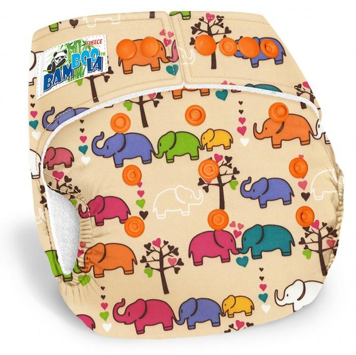 Купить Bamboola Многоразовый подгузник Fleece Слоники + 1 вкладыш в интернет магазине. Цены, фото, описания, характеристики, отзывы, обзоры