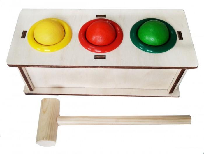 Деревянные игрушки Woodland Стучалка 3 отверстия стучалка woodland домик 4 отверстия 115308 красный синий зеленый желтый