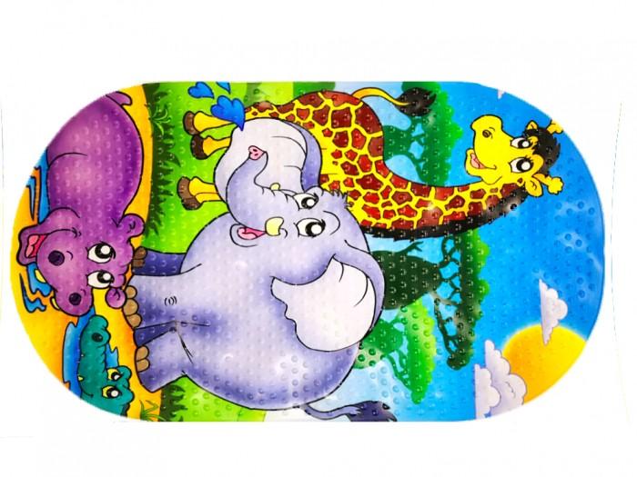 коврики для купания Коврики для купания Aqua-Prime Spa для ванны Зоопарк 68х38 см