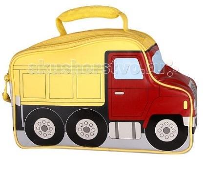 Thermos Детская сумка-термос Truck NoveltyДетская сумка-термос Truck NoveltyThermos Детская сумка-термос Truck Novelty выполнена в виде грузовика. Колеса крутятся совсем как настоящие! Уникальная форма с декоративными вставками.  Сумка-термос Foogo Large Diaper Fashion Bag прежде всего свежие продукты и напитки. Более 100 лет покупатели доверяют продукции марки Thermos, которая используется для сохранения свежести и поддержания горячей или холодной температуры продуктов питания и напитков. Сегодня эта традиция продолжается серией стильных и функциональных изделий, предназначенных для различных целей.   Дети обожают забавный дизайн продукции Thermos, которая занимает лидирующие позиции на рынке в сегменте товаров для детей.  Особенности: максимальная изоляция запатентованной системы IsoTec при изготовлении мягких сумок-термосов Thermos использует высококачественный внутренний слой из водонепроницаемого материала PEVA  внутренний слой PEVA – гигиеничен, герметичен, легко очищается износостойкая плетеная ткань – водостойкая и устойчивая к UV термоизоляционная подкладка под внешнюю ткань слой размером 4 мм из пены полиуретана высокой плотности с рефлексивным слоем – отражают холодный воздух для максимальной изоляции легкий вес изделия  Все изделия изготовлены из экологически чистых материалов, не содержат поливинилхлорид - 100% PVC free.  Размеры: 26.5х10.5х17 см<br>