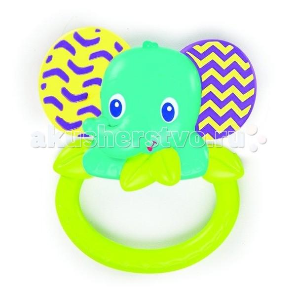 Прорезыватели Bright Starts для зубок Слоненок bright starts прорезыватель для зубок динозаврик от 3 месяцев