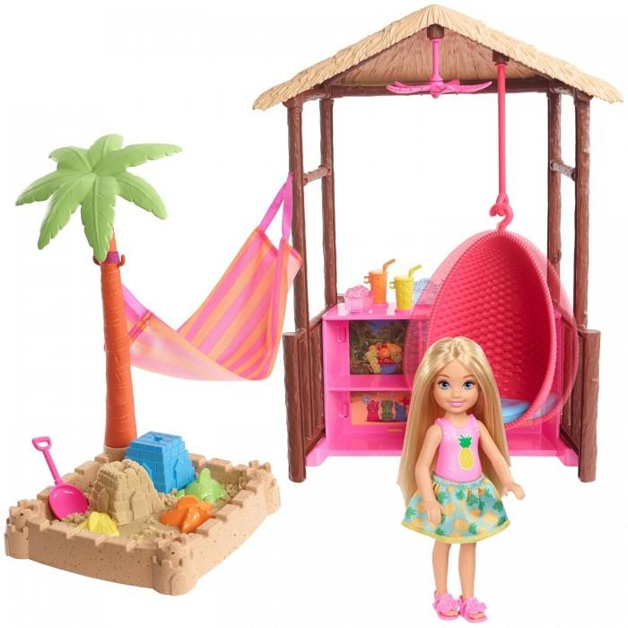 Купить Куклы и одежда для кукол, Barbie Игровой набор Челси в хижине Тики