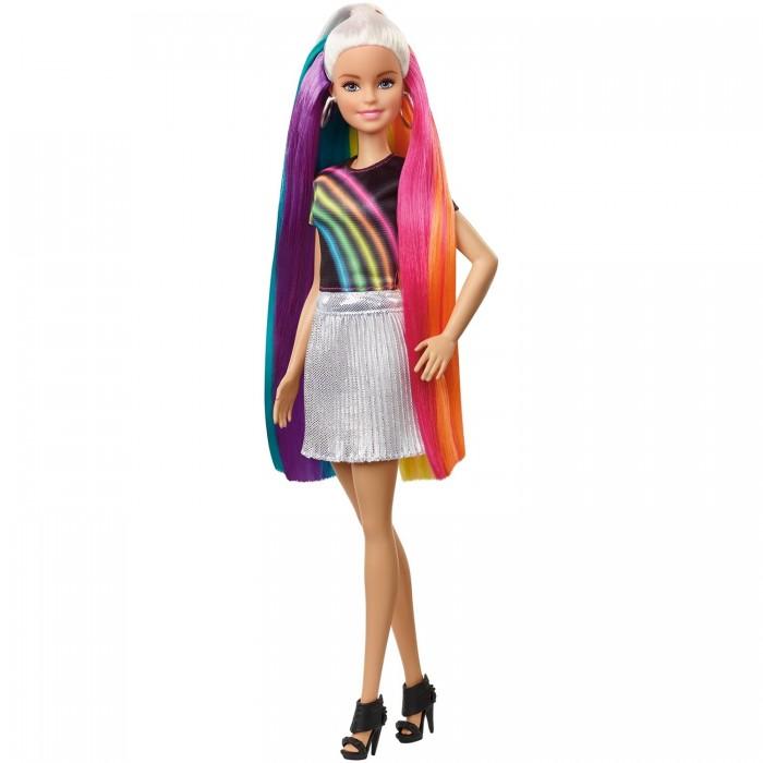 Купить Куклы и одежда для кукол, Barbie Кукла с радужной мерцающей прической FXN96