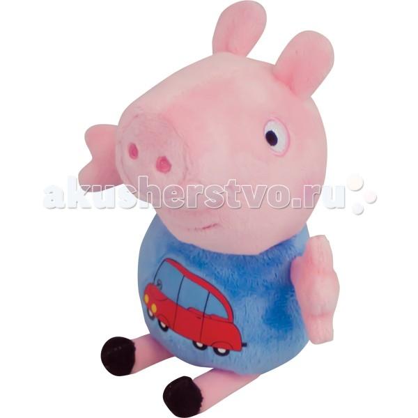 Фото - Мягкие игрушки Свинка Пеппа (Peppa Pig) Джордж с машинкой 18 см игрушка мягкая т м peppa pig джордж с машинкой 18см