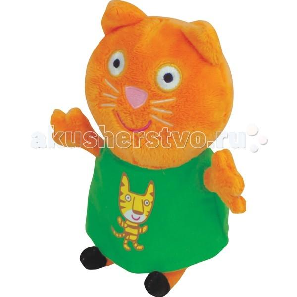 Мягкие игрушки Свинка Пеппа (Peppa Pig) Кенди с тигром 20 см peppa pig мягкая игрушка джордж с динозавром 40см