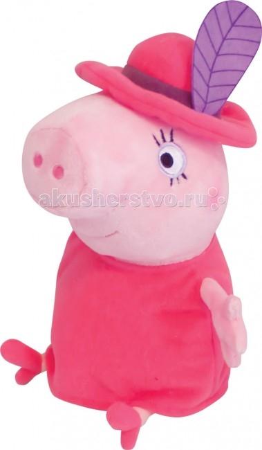 Мягкие игрушки Свинка Пеппа (Peppa Pig) Мама в шляпе 30 см мягкая игрушка peppa pig джордж с машинкой свинка розовый текстиль 18 см 29620
