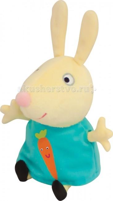 Мягкие игрушки Свинка Пеппа (Peppa Pig) Ребекка с морковкой 20 см пазл origami peppa pig транспорт 4 в 1