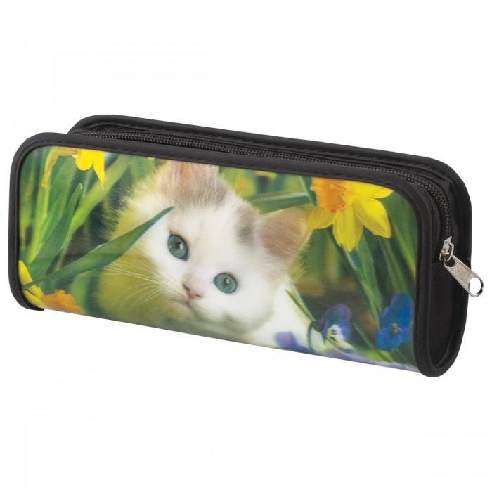 Пеналы Brauberg Пенал-косметичка Белый котенок