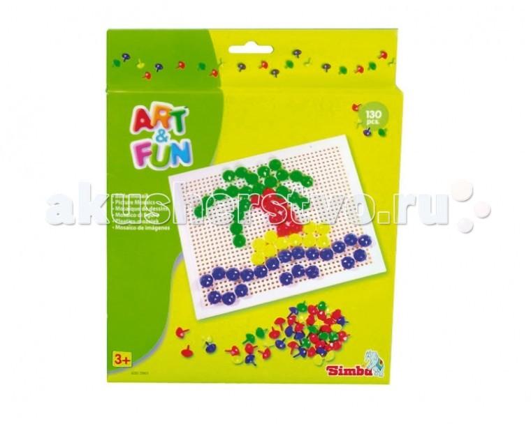 Мозаика Simba Мозаика-гвоздики Art&Fun 130 элементов мозаика paulinda мозаика super beads собачка 300 элементов