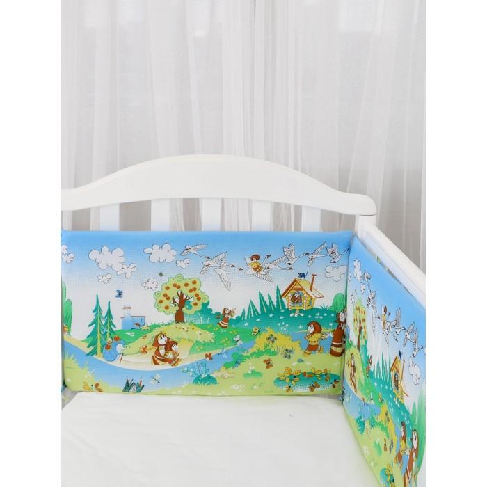 Бортик в кроватку Baby Nice (ОТК) Споки ноки Гуси лебеди фото
