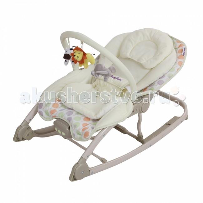 BamBola Шезлонг AllegroШезлонг AllegroДетский шезлонг Allegro. Мягкие, приятные на ощупь материалы, удобное сиденье позволяют малышу чувствовать себя в этом кресле удобно и безопасно - как у мамы на руках.  Характеристики: шезлонг-качалка с фиксатором легкость и компактность сложения 3 положения спинки, до положения лежа дуга со съемными игрушками электронный блок два режима музыка и вибрация работает в совместном режиме музыка + вибрация работает от 2 батареек АA трехточечные ремни безопасности съемный чехол можно стирать съемный матрасик с подушкой-подголовником  Размеры в разложенном виде: 43х81х50 см.<br>