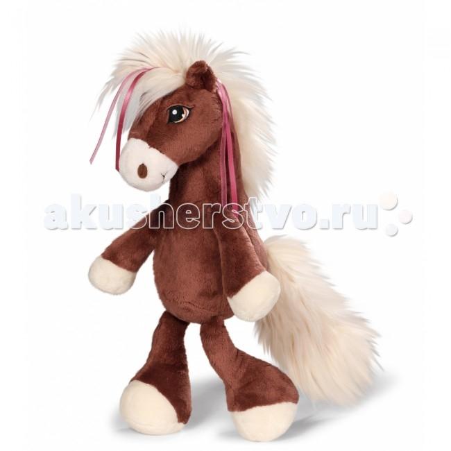 Мягкая игрушка Nici Лошадка Вельвет коричневая сидячая 35 см