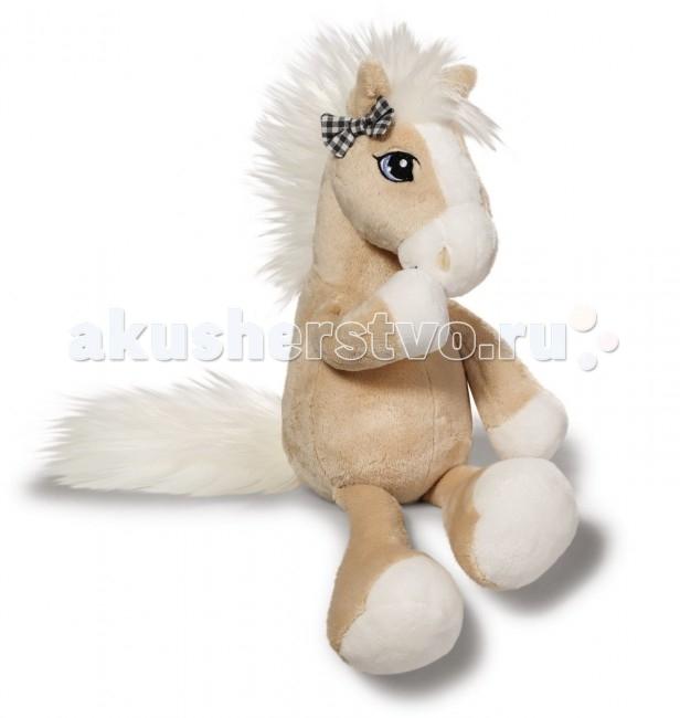 Мягкие игрушки Nici Лошадка Даймонд бежевая сидячая 80 см мягкие игрушки sonata style лошадка 28 см
