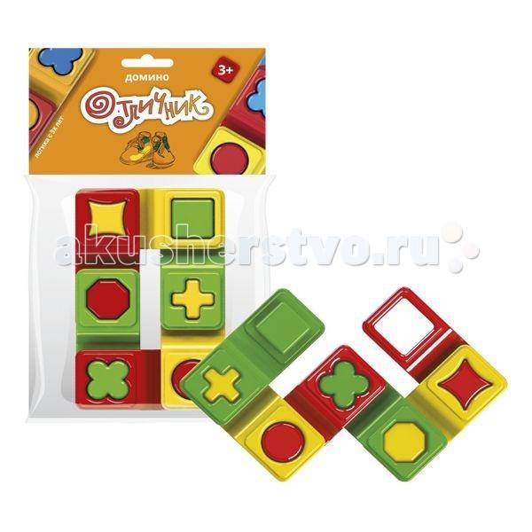 Игры для малышей Биплант Домино Отличник 6 шт. игры для малышей русский стиль домино лесное
