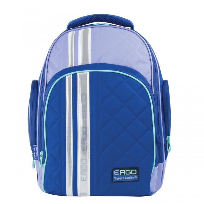 Tiger Family Рюкзак 227874Школьные рюкзаки<br>Рюкзак с ортопедической спинкой Tiger Family - это идеальный рюкзак легкий, удобный и вместительный.   Благодаря лаконичному дизайну и стильной расцветке этот рюкзак идеально сочетается со школьной формой и прослужит ребенку не один год.   Легкая конструкция и анатомически правильная вентилируемая спинка уменьшают нагрузку на позвоночник.   Особенности:  Спинка: формоустойчивая, вентилируемая, ортопедическая  1 отделение с перегородкой, 3 кармана, боковые карманы, фронтальный карман  Светоотражающие элементы  Регулируемые и вентилируемые лямки  Материал дна: плотная водонепроницаемая ткань  Внутренний органайзер Объем: 19 л
