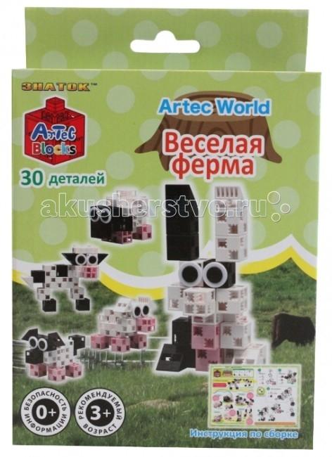 Конструкторы Знаток ArTec World Весёлая ферма 30 деталей набор для конструирования ausini ферма 177 деталей