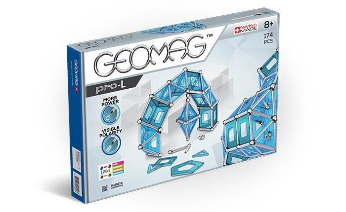 Конструктор Geomag магнитный Pro-L (174 детали)Конструкторы<br>Конструктор Geomag магнитный Pro-L (174 детали) Конструктор Geomag состоящий из магнитных палочек, хромированных стальных шариков и геометрических фигурок. Позволяет собирать огромное количество геометрических форм.