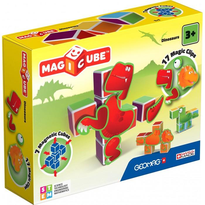 Купить Конструкторы, Конструктор Geomag магнитный MagiCube Динозавры (24 детали)