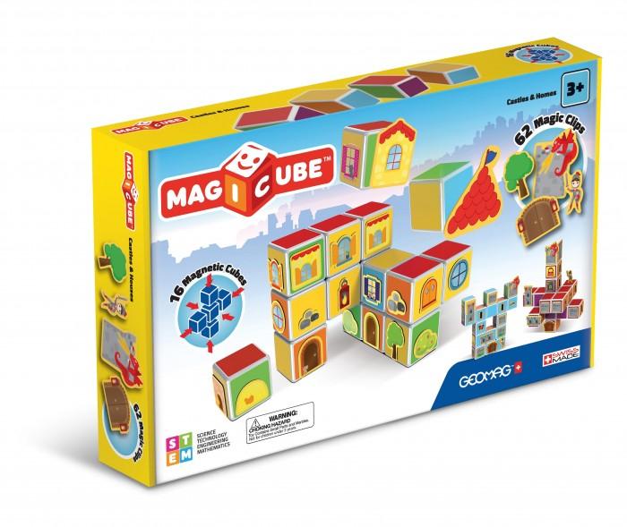 Купить Конструкторы, Конструктор Geomag магнитный MagiCube Замки и дома (78 деталей)