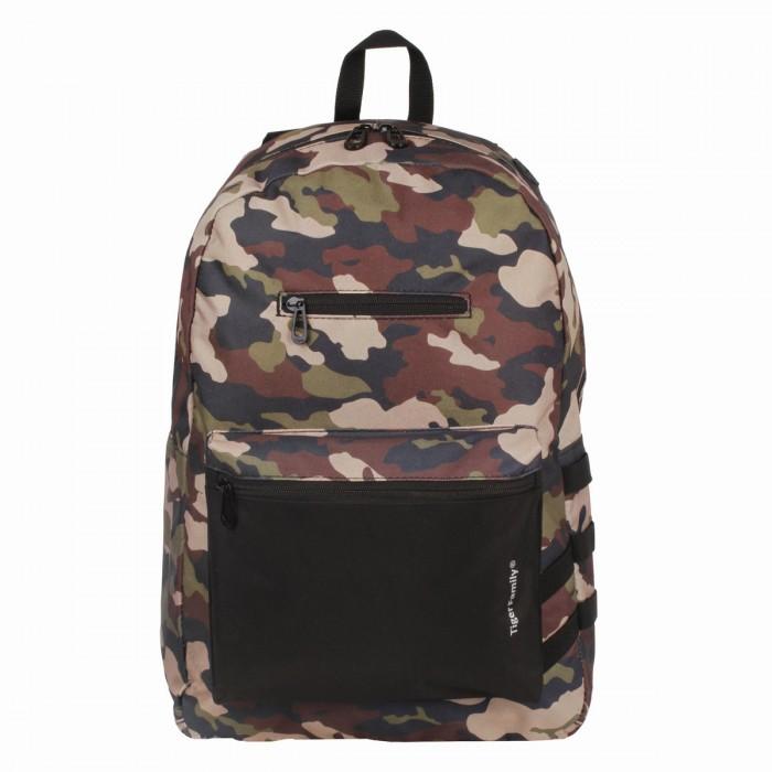 Школьные рюкзаки Tiger Family Рюкзак молодежный сити-формат Камуфляж