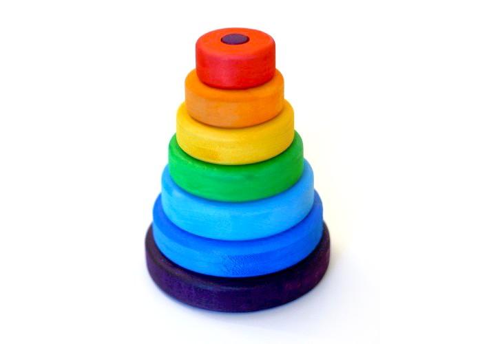 Купить Деревянные игрушки, Деревянная игрушка Букарашка Пирамидка Малышка в красной шапочке