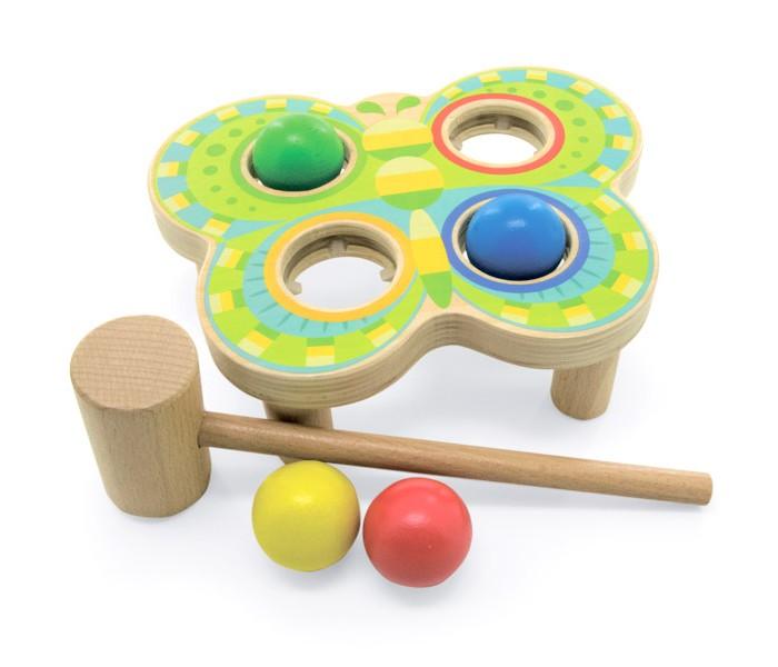 Картинка для Деревянные игрушки Lucy & Leo Стучалка бабочка