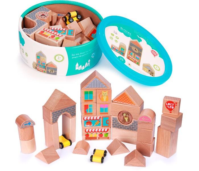 Купить Деревянные игрушки, Деревянная игрушка Lucy & Leo Кубики (средний набор) 25 шт.