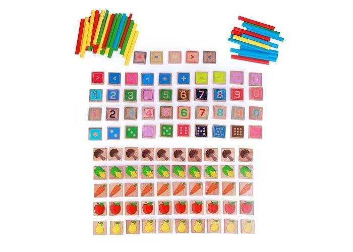 Картинка для Деревянные игрушки Lucy & Leo Арифметический счет (135 элементов, 40 цветных палочек)