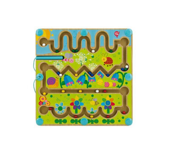 Деревянные игрушки Lucy & Leo Магнитный лабиринт Цветы недорого