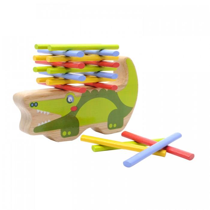 Купить Деревянные игрушки, Деревянная игрушка Lucy & Leo Балансир Крокодил
