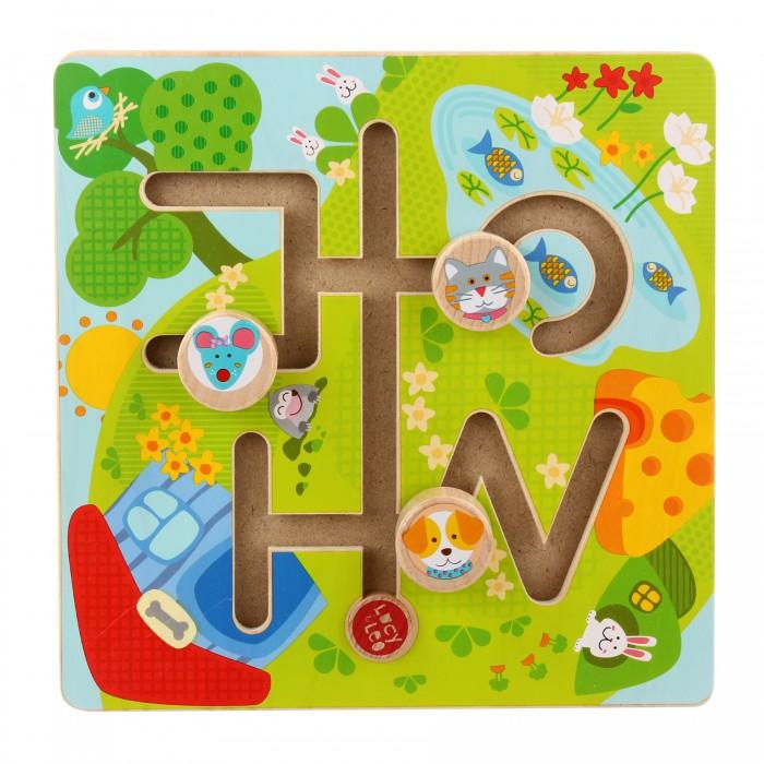 Деревянные игрушки Lucy & Leo Лабиринт Солнечная долина деревянные игрушки lucy leo каталка лабиринт корова