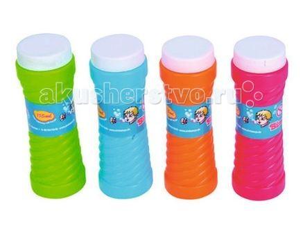 Мыльные пузыри Simba Мыльные пузыри Bubble Fun 4 шт. по 115 мл paddle bubble 278213 мыльные пузыри 60 мл с набором ракеток