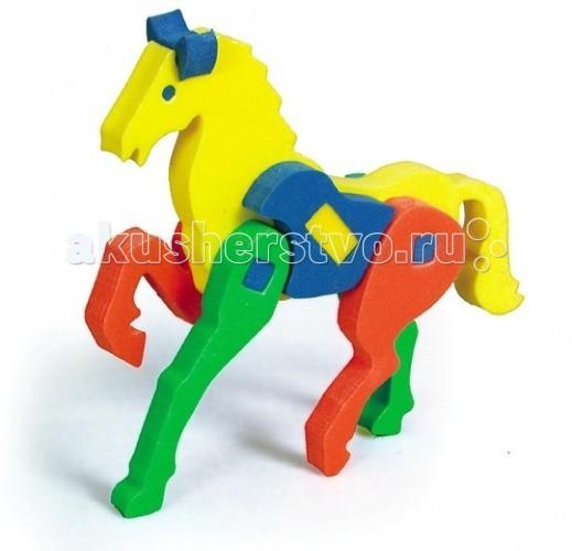 Конструкторы Бомик Объемный Конь конструкторы бомик развивающая игрушка конструктор пирамиды
