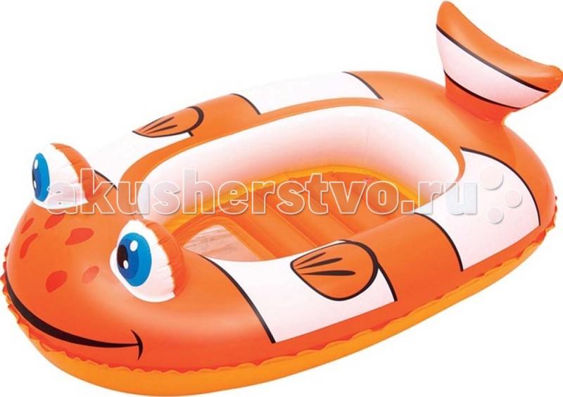 Матрасы для плавания Bestway Надувная лодочка Рыбки 102х69 см